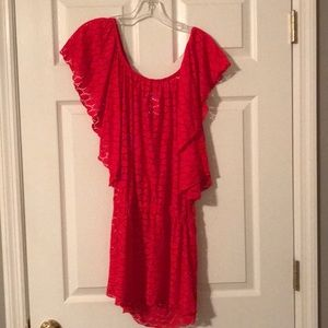 Red Bathing Suit Cover Up, Size: M